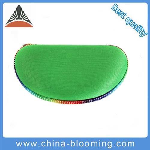 Eco-Friendly Wholesale Green Zipper EVA Glasses Bag Case