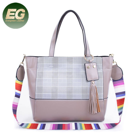 Fashion Lady Handbag Large Capacity Color Collision Tote Bag for Women Wholesale Sh596