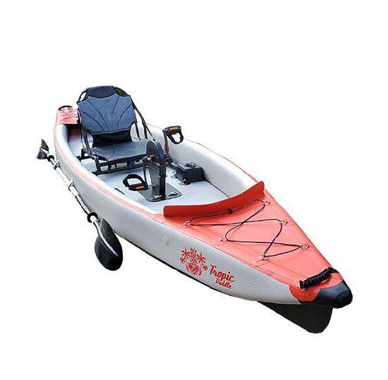 Inflatable 14 Feet Drop Stitch Pedal Fishing Kayak