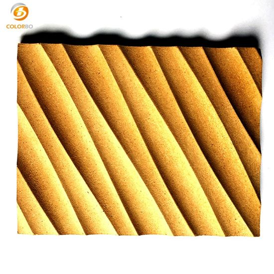 China Fireproofing Wave Decorative Mdf Board China 3d Wall Panel