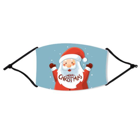 Wholesale Custom Logo Kids Adult Cotton Fabric Cloth Facemask Reusable Christmas Face Masks