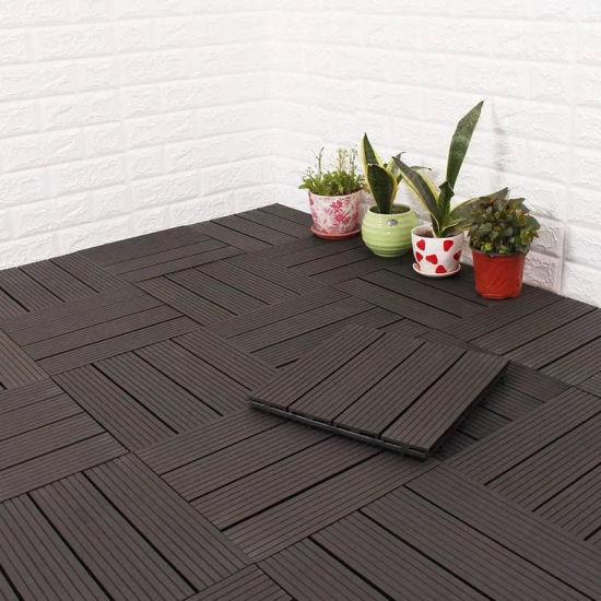 WPC DIY Flooring Tile DIY Interlocking Floor Tiles Decking Floor