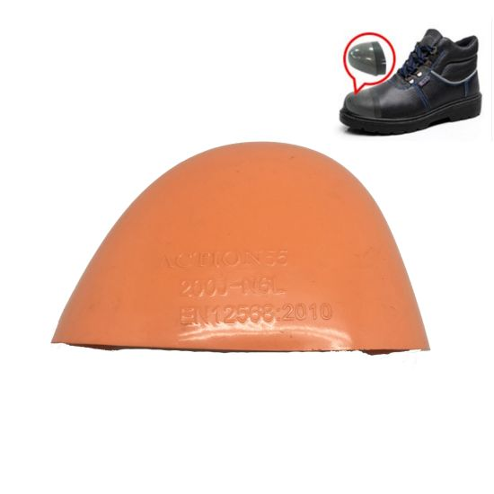 Stainless Steel/Fiberglass Toe Cap for Safety Shoes, Industrial Work Shoe