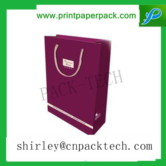 High End Customized Jewelry Apparel Paper Packaging Bag