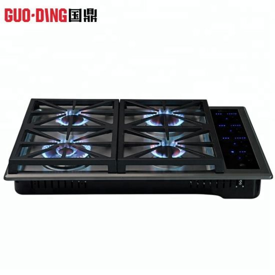 Est Dependable Performance Square Cast Iron 4 Burners Touch Type Gas Stove Cooker