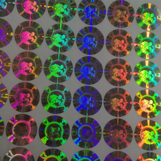 Custom Logo Secure Label Shining 3D Hologram Label Adhesive Hologram Sticker