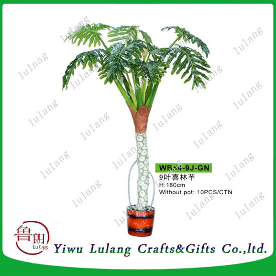 Highly Lifelike Rubber Leaf Artificial Green Radish Bonsai Plant pictures & photos