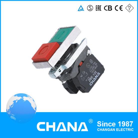 CB4-BL8325 Double Head Pushbutton Switch N/O+N/C