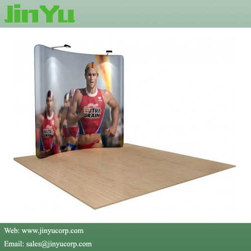 10FT Exhibition Equipment of Horizontal Curved Tension Fabric Display