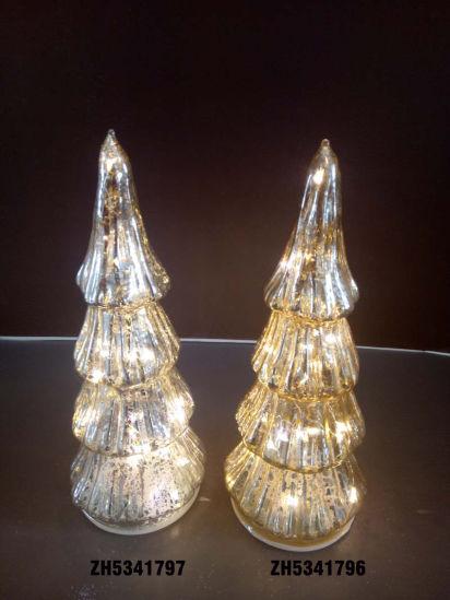 2021 Christmas Glass Tree with LED Inside