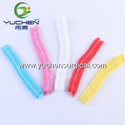 Disposable Factory Made Hairnet Non Woven Polypropylene PP Clip Cap