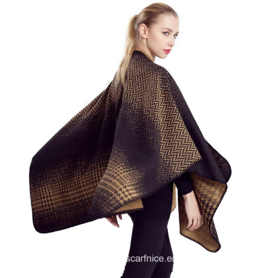 2019 Winter Scarf Women Ponchos And Capes Blanket Female Shawl Pashmina Thick Coat Woman Clothing Poncho Apparel Accessories