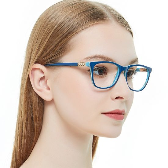 d5d91972b7 2019 Vintage Retro Acetate Myopia Eye Glasses Women Clear Lens Frames  Optical Demi Eyeglasses Spectacles