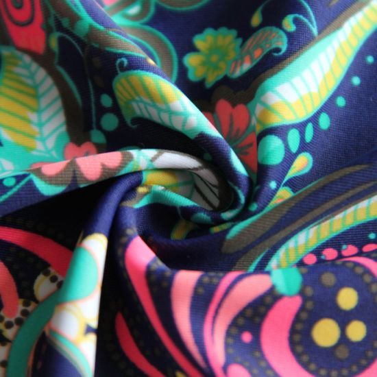 Knitted Matte Nylon Spandex Swimsuit Home Textile Fabric for Swimsuit/Legging/Yoga/Sportswear