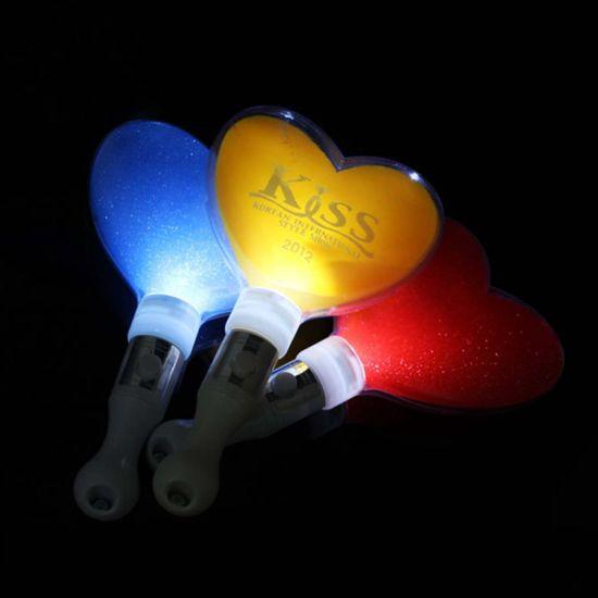 Kids Toy Plastic LED Heart Shape Flashing Stick for Concert