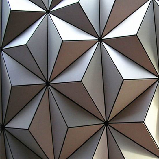 Exterior Usage and Antibacterial Function 3D Aluminum Wall Panel