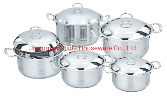 Kitchen Utensils, Cookware, Stock Pot 6PCS 8PCS 10PCS Stainless Steel Cookware Set in Big Capacity