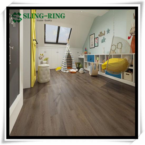 Fire Resistant and Waterproof Plastic Rvp PVC Lvt Vinyl Click Floor