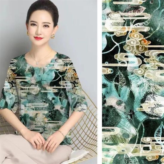 Yigao Textile 100% Polyester Digital Printed Fabric Satin Fabric