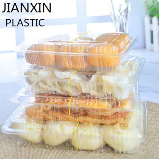 Anti-Fog Container Suitable Disposable Transparent Takeaway Box for Food Packaging, Picnic, Food Display