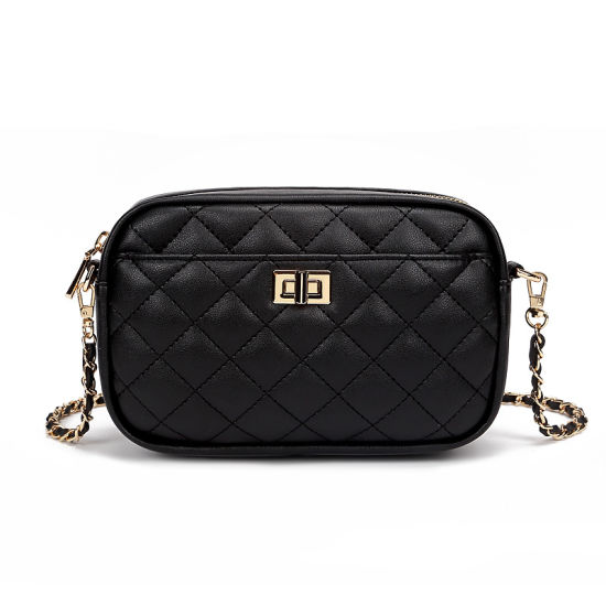Handbag Manufacturer, OEM/ODM Wholesale Factory, Faux Leather Shoulder Bag PU PVC Quilted Bag Turnover Lock Fashion Lady Handbag