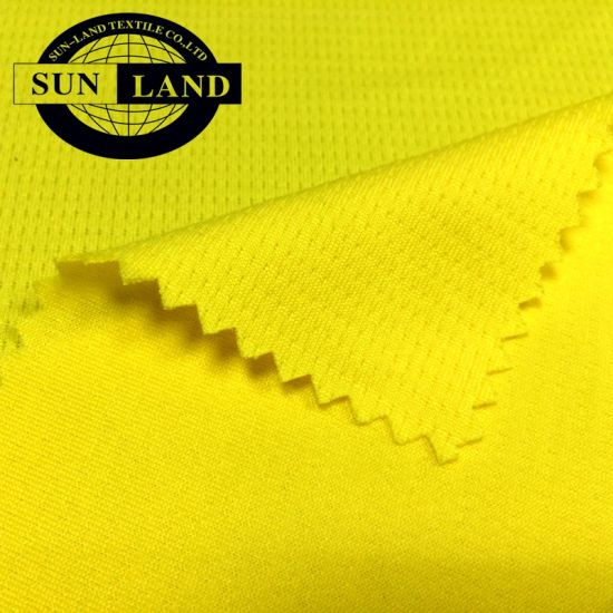 100 Polyester Mesh Fabric in Waffle Knitted Style for Garment Shirt and Sport