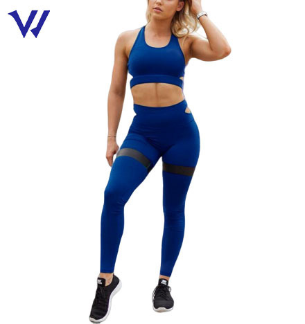 Breathable Women Gym Running Solid Color Sportswear Yoga Sets Plus Size Women Active Fitness Wear