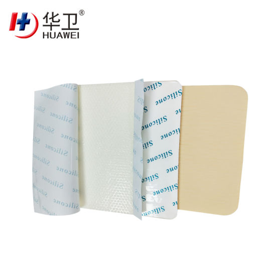 Waterproof Self-Adherent Silicone Foam Dressing Hydrophilic Wound Dressing for Moist Healing