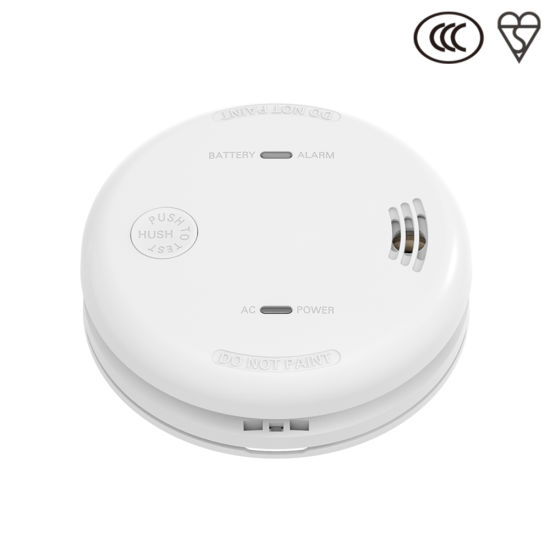 Fire Alarm White AC Power Supply Smoke Detector Alarm