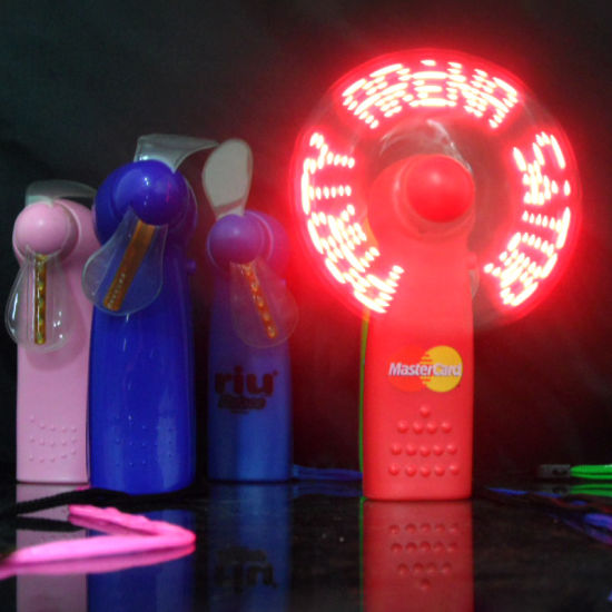 LED Fan with Battery/Light Flashing Fan/Summer Favor Cool Fan
