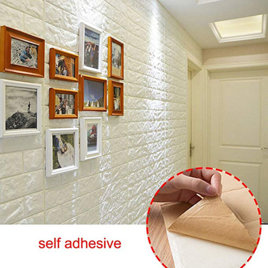 Wall 3D Bricks Decals Self Adhesive DIY Foam Panel Stickers Home Decorations