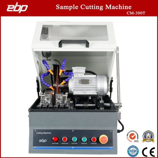 Manual Operate Metallographic Sample Cutting Machine with Abrasive Cutting Wheel