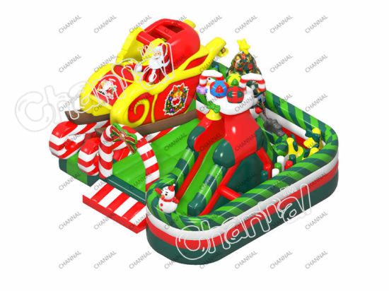 Christmas Inflatable Bouncer Playground Trampoline Inflatable Playground