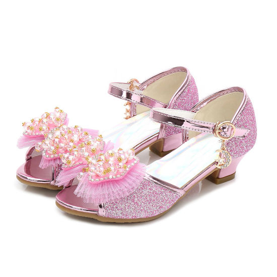 1915b503d62f9a Kids Baby Girl Rhinestone Princess Sandals Crystal Dress Butterfly Shoes