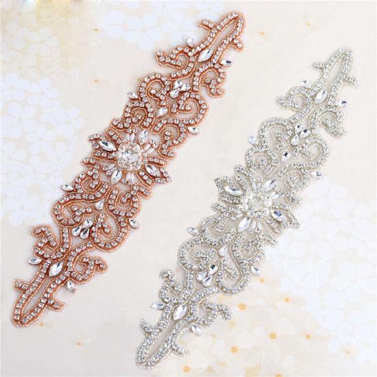 b82ead2611 Wholesale Crystal Embellishments Bridal Sash Belt Beaded Rhinestone  Appliques