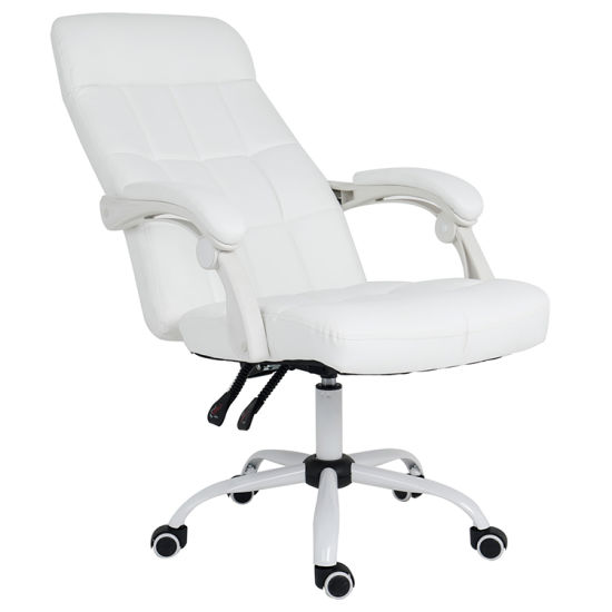 Tremendous Hot Item Modern High Back Pu Executive Conference Office White Boss Desk Chair Andrewgaddart Wooden Chair Designs For Living Room Andrewgaddartcom