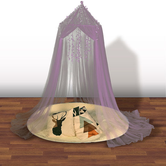 The LED Ceiling Dome Children Bed Nets Princess Wind Adornment Palace.