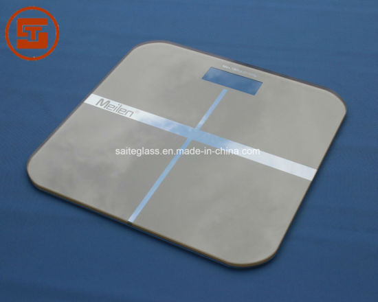 Factory 6mm Printing Tempered Electronic Body Fat Weighing Bathroom Scale Glass Panel