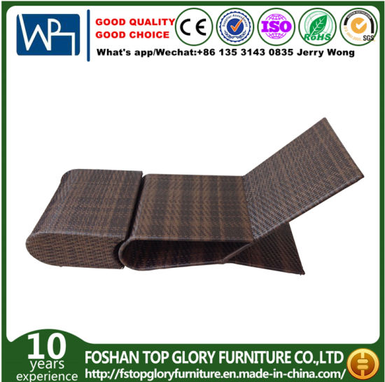 Outdoor Garden Wicker Sunbed Beach Leisure Lounge Rattan Daybed pictures & photos
