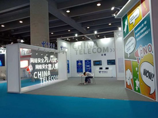 Exhibition Booth Fabrication In New : China telecom industry exhibition stand booth fabrication china
