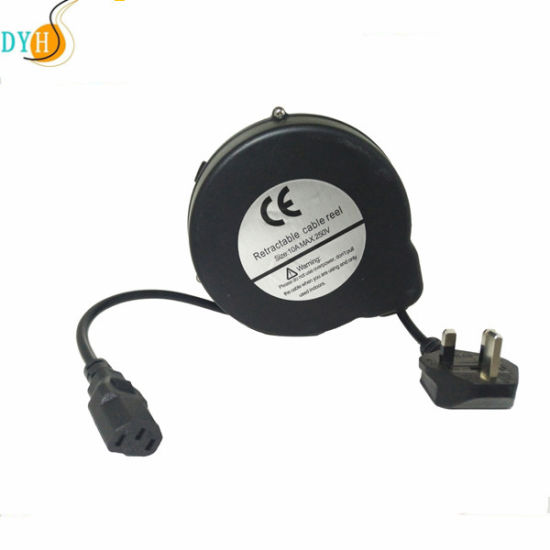 UK Plug Retractable Extension Cord with Carth Brake System