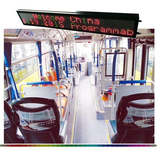Programmable Indoor LED Billboard Two Lines or One Line Scrolling Text LED Advertising Board pictures & photos