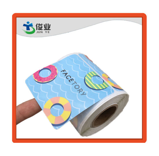 Full Color Printing High Quality Sticker/Blue Circle Label