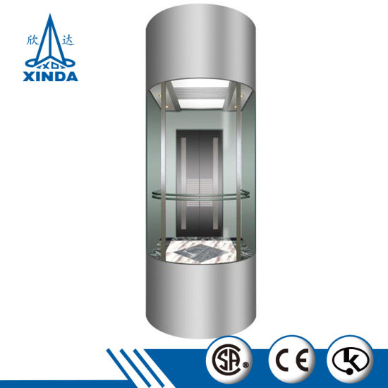 China Sightseeing Elevator Lift High Quality Cheap Glass Automobil