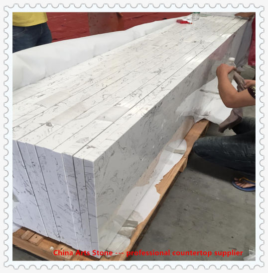 Honed Polished White Marble For Bathroom Tile Vanity Top And Kitchen Benchtop