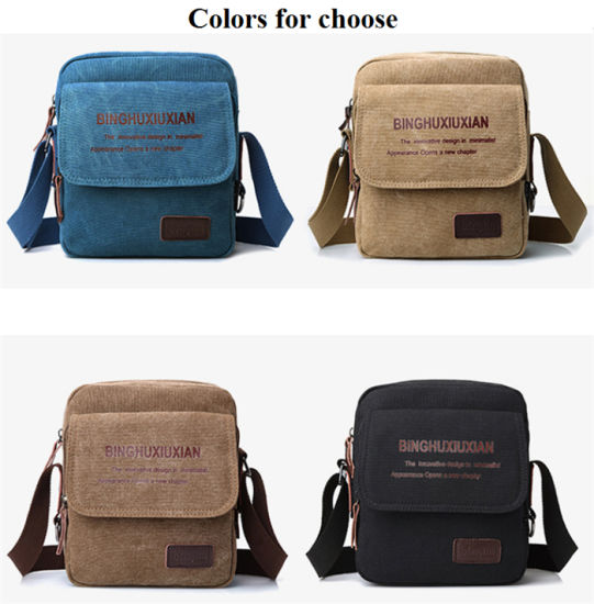 1febdc495 Canvas Messenger Bag Long Shoulder Strap Crossbody Sling Bag Wholesale