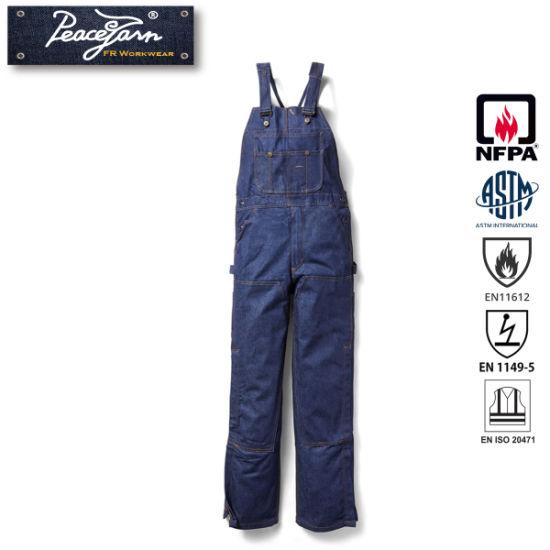 Cheap Fire Retardant Clothing >> China Fire Retardant Clothing Fr Flame Resistant Coverall Denim Bib