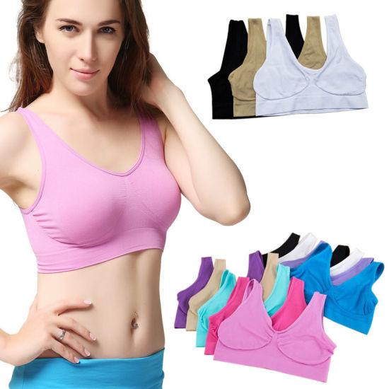 Fast Delivery Ladies Sport Leisure Comfortable Yoga Seamless Ahh Bra (SR2230)