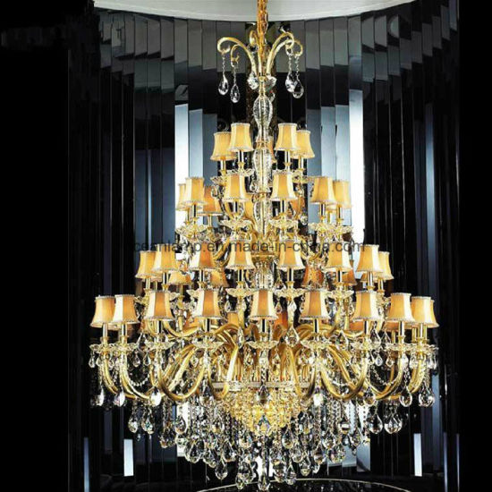 European Project Hotel Decoration Crystal Candle Chandelier Lamp as Customs Size