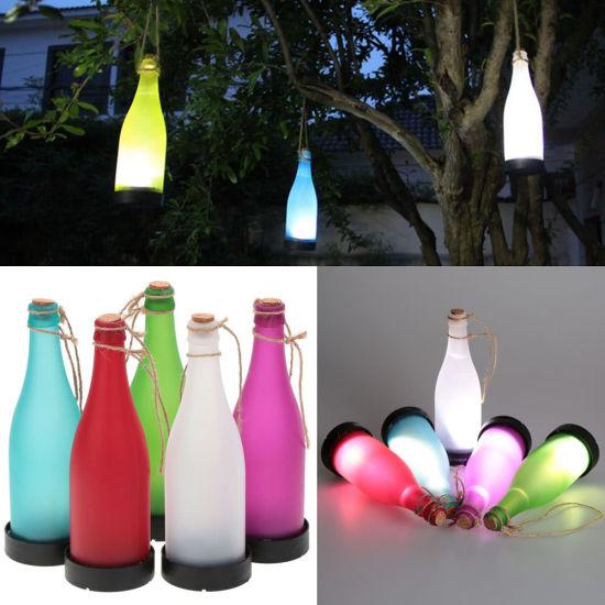 5Pcs Light Sense Solar Power Cork Wine Bottle LED Hanging Lamp for Party CS I1G0